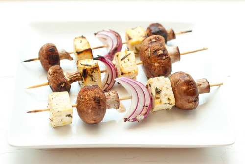 Meatless Mondays Recipes: Lemon and Rosemary Tofu Skewers