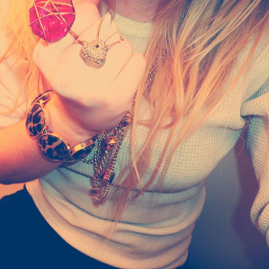 an old photo but with instagram filter  ring topshop, diva neckless h&m