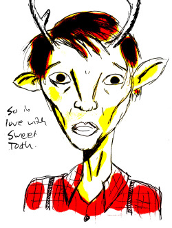 Just finished volume 4 of 'Sweet Tooth' by Jeff Lemire. Most compelling series I've devoured since 'Preacher'. Yay for post apocalyptic stories without zombies.