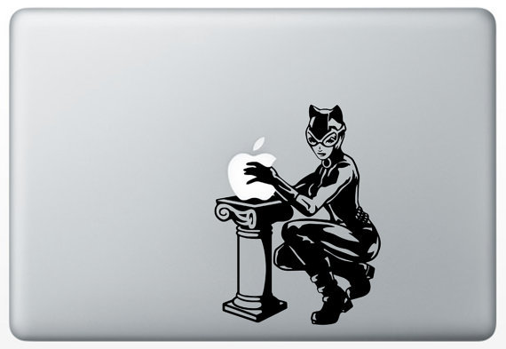 geekygossip: Catwoman vinyl decal for MacBook (available on etsy)