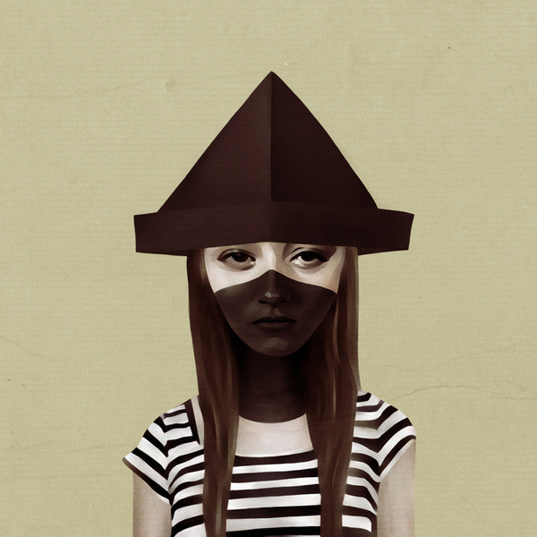 Ceci n'est pas un chapeau London based graphic artist & illustrator Ruben Ireland images are a beautiful blend of balanced color and emotion… Can not stop staring at her, staring at me.