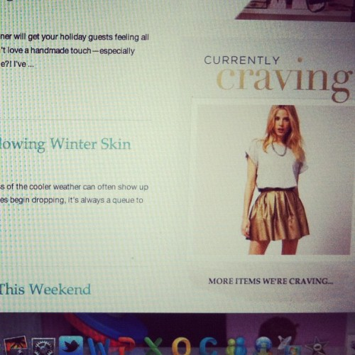 "Check out our new ""currently craving"" widget that links to our favorite items and our shop! #ggtime"