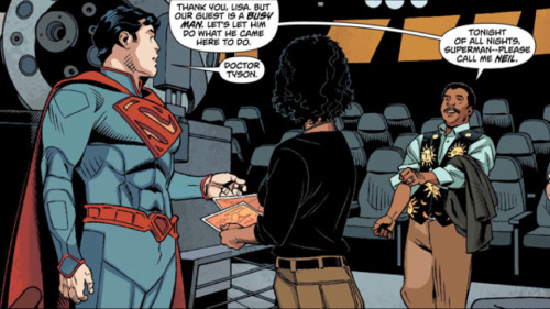Superman meets Neil deGrasse Tyson. DC's New 52 does something that I like.
