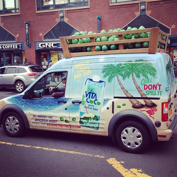 Vita Coco van in Union Square
