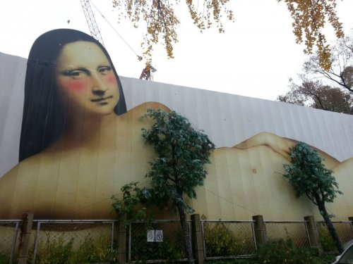 "collegehumor:  Mona Lisa Has Gotten Scandalous  ""Draw me like one of your Italian girls.""   Soooo, what happens in the fall when the leaves fall off?"