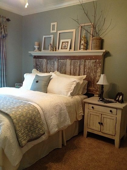 daisy-pickers:  DIY Door Headboard! Found here. Click here for more DIY inspiration!