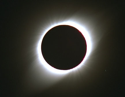 "Total Solar Eclipse and Minor Lunar Eclipse to Grace Nov. Skies  November's a good month for celestial shadow play. Stargazers will get two eclipses in about as many weeks, the first a dazzling total solar eclipse that will showcase the sun's corona approaching peak activity, and the second a subtler lunar eclipse that will be visible across much of the United States.  Image: This photograph shows the total solar eclipse of Oct. 24, 1995, as seen from Dundlod, India. Credit: Fred Espenak/NASA's Goddard Space Flight Center   The theatrics start on Nov. 13, when residents of northeastern Australia get a false-start sunrise. Just an hour after the sun breaks the horizon in the coastal city of Cairns, it will be fully obscured by the moon, whose shadow will darken the sky and bring the stars back into view for 2 minutes there.  The only visible part of the sun during the total eclipse will be its glowing corona, or outer atmosphere, protruding around the moon's silhouette.  ""Occurring as [the eclipse] does within months of the expected solar max, the solar corona should take on a 'wound up' circular shape, with a high potential for tongues of pink nuclear fire leaping from the Sun's edge,"" said astronomer Robert Berman, who writes for Astronomy Magazine."