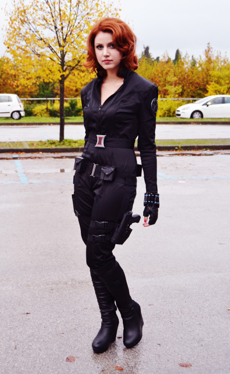 kaetiegaard:  My Black Widow cosplay at Lucca Comics and Games yesterday! Costume and accessories were made by me. :3