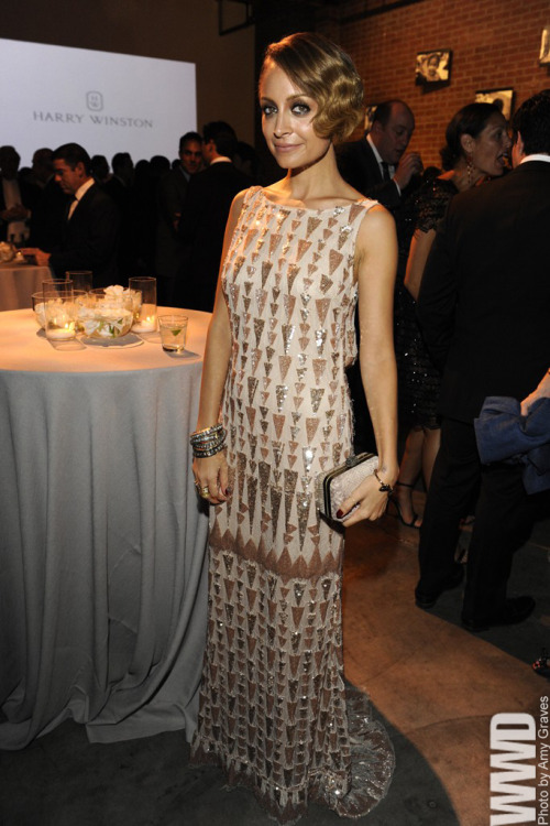womensweardaily:  Nicole Richie in Lorena Sarbu at Baby2Baby's First Gala  Hi, I love everything about this. Except for the fact that it's Nicole Richie wearing it and not me.