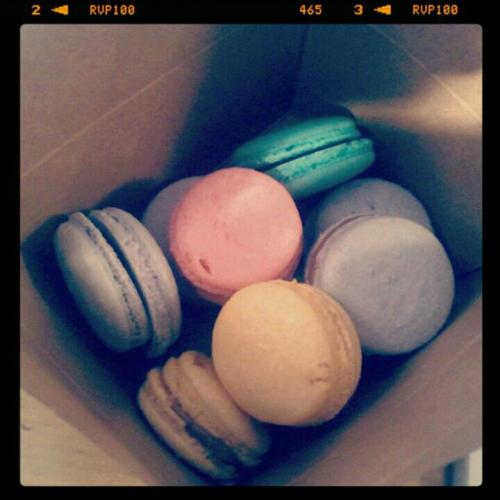 Oh La La … French Macaroons !  Corny joke, I know. And yes they are not cupcakes however I am quite proud of these.  I took a 2 hour French Macaroon making class at this wonderful place called Cathcart & Reddy, and it was the best Groupon I ever purchased. It was like earning a skill point on the Sims, and I just felt so amazing afterwards having learned something new.   The teacher was phenomenal. She gave so much detail and instruction and did not make anyone feel left out or uncomfortable. The class ran longer than 2 hours, which was fine with me, we learned so much and it was all completely worth it. The class, the mixing and the tasting, it was just total … bliss.  Being a Jersey girl I had to ride into the city alone, take the subway, the whole thing and being an introvert going anywhere alone to meet a bunch of strangers is my worst nightmare. But the prospect of learning how to make a french dessert was enough to deter my social anxiety. In the end i'm so glad I went through with it. My giddiness lasted for days.   You know, I sense a new hobby coming on …