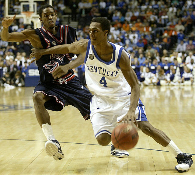 Kentucky's Rajon Rondo drives against Mississippi's Bam Doyne during a 2005 SEC Tournament game. Rondo's time at Kentucky was a mixed bag. Although the point guard averaged 11 points per game and piloted the Wildcats to the second round of the NCAA tournament in 2006 (his second and final season), it was the first of two straight seasons with double-digit losses, which resulted in Tubby Smith's exit. SI's Rob Dauster ranked this year's Kentucky squad No. 1 in his preseason SEC rankings. (Wade Payne/Icon SMI)DAUSTER: 2012 SEC PrimerGALLERY: Rare Rajon Rondo Photos