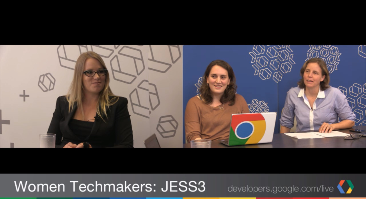 "Smart women talking tech, including JESS3 President Leslie Bradshaw on ""Google Developers Live Presents: Women Techmakers""  http://jes3.com/LBgdltm"
