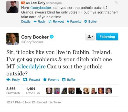 Confession: I have a crush on Newark Mayor Cory Booker.