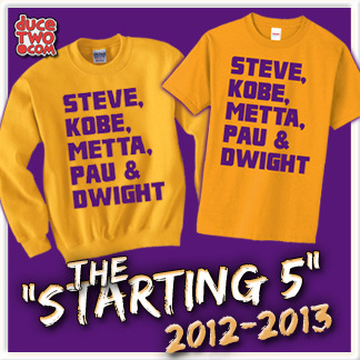 The starting 5 shirt an CrewNeck sweatshirt now on sale at: www.duceTWO.com!