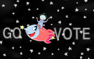 Calacorn made this, and another animated vote motivator, to encourage people to #govote! Click here to find your polling station and share these images with your friends to make sure they #GoVote as well. For more #govote images and to submit your own go to: govote.org