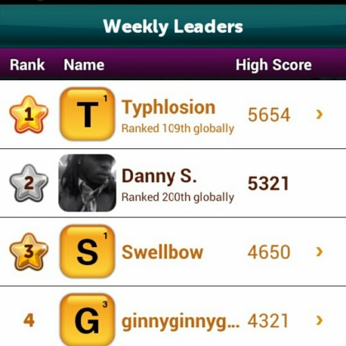 Made it to the top 200 worldwide last week in #ScrambleWithFriends I was hype
