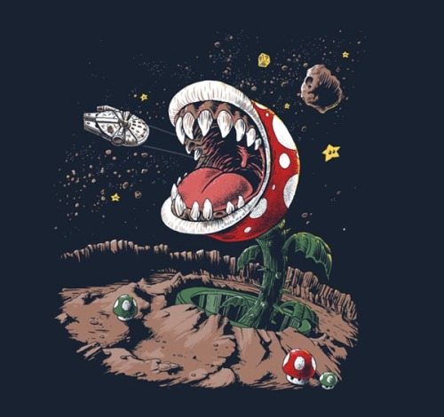 Star Wars Super Mario mash-up t-shirt Product Page