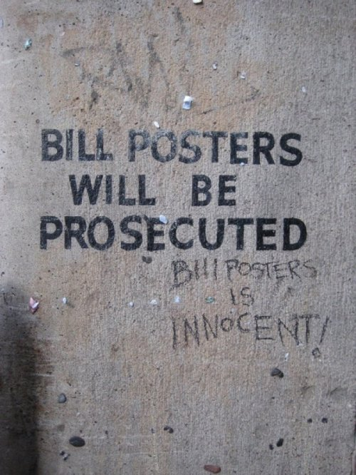Bill Posters is Innocent Let Bill do Bill