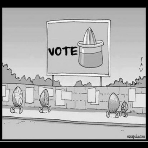 You're screwed either way… #Voting