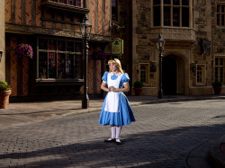 Pausing In Wonderland photographer: Noah Kalina location: EPCOT United Kingdom Pavilion