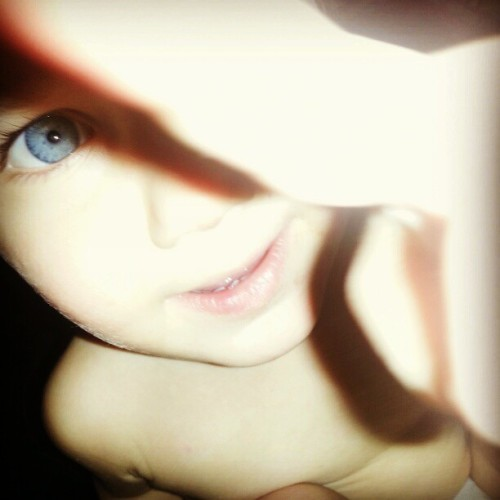 Baby boy. #filter #hefe #baby #cute #instacute #adorable #blue #blueeyes #flash #light #face #pretty #igersohio #cuyahogafalls #sweetie #babyboy #nephew #photooftheday