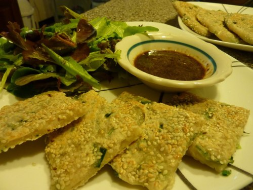 (via Hard Work Homestead: Wild onion pancakes)