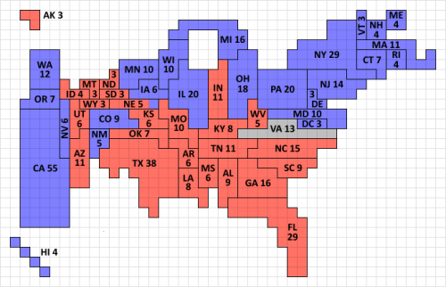 The Gott/Colley cartogram, on the Electoral Scoreboard 2012 site.
