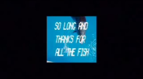 So long and thanks for all the fish.