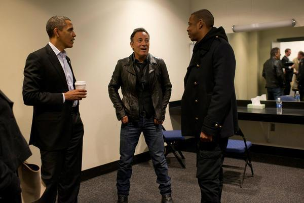 Barack Obama, Bruce Springsteen and Jay-Z in Ohio
