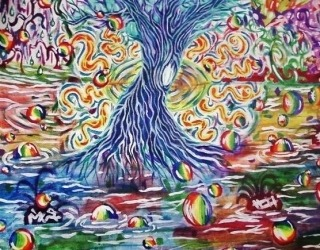 dandelionsinjupiter:  Trees on acid.
