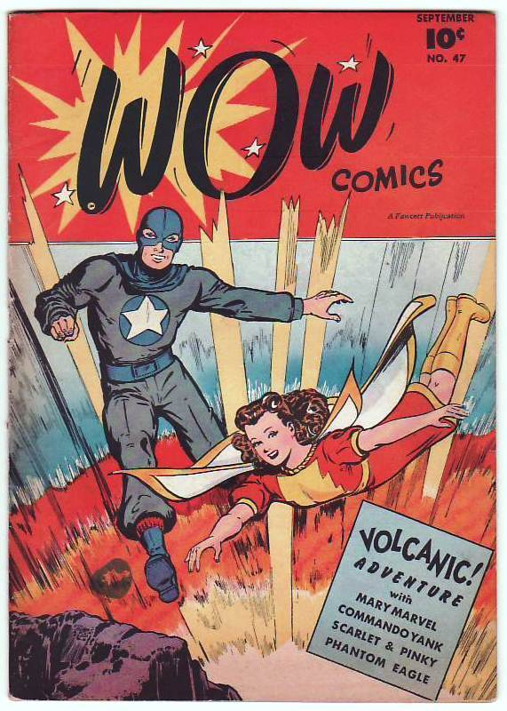 comicbookcollecting:  WOW Comics 47 … Fawcett magazine … On the Cover : Mary Marvel - Mary Batson , Commando Yank