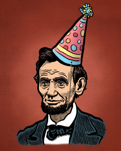 Abe Lincoln party. This artist also has a pretty amazing Lou Diamond Philips print in their Etsy shop worth checking out.