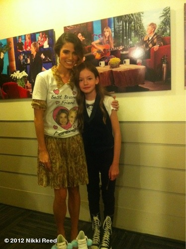 nikkireed:  Backstage at @TheEllenShow with little Mackenzie Foy! View more Nikki Reed on WhoSay