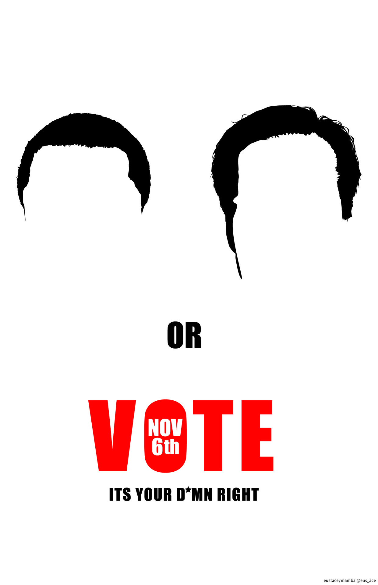 The time is now to vote! Choose your side.  original artwork by Eustace Mamba all rights reserved ©