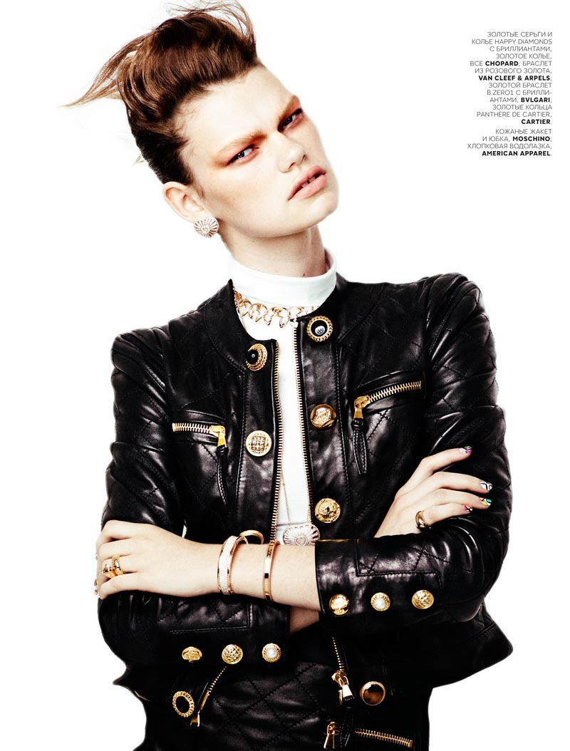 VOGUE Russia Rocker Shine Photopgrahy by Emma Tempest / Styling by Camilla Pole & Model Kelly Mittendorf.