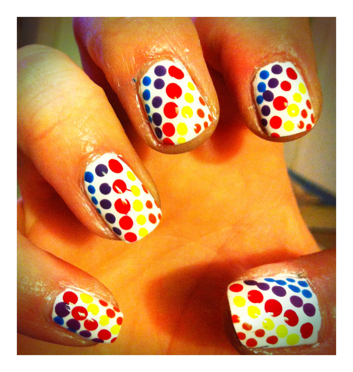 Rainbow of dots