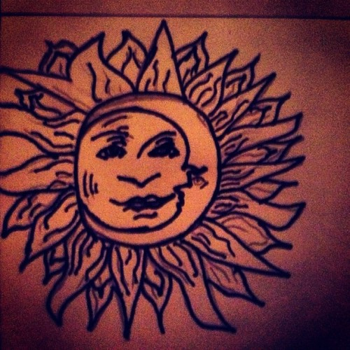 Sun/Moon. 🌞🌙 #Drawing #Bored #instaart