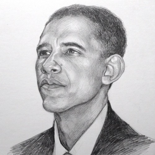 Pencil drawing of President Barack Obama.  Remember to VOTE tomorrow!! #obama #vote #govote #drawing #portrait #art #pencils