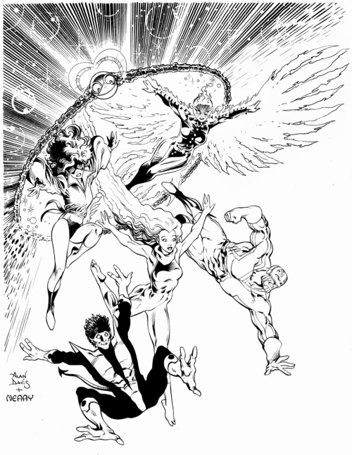 questerslog:   Alan Davis' Excalibur Illustration for Comics Interview #56 It was the best of times, it was the…best of times!