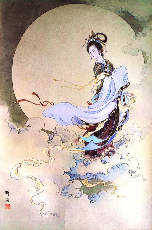 Chang'e, la diosa china de la luna :)Chang'e, the chinese goddess of the moon :)