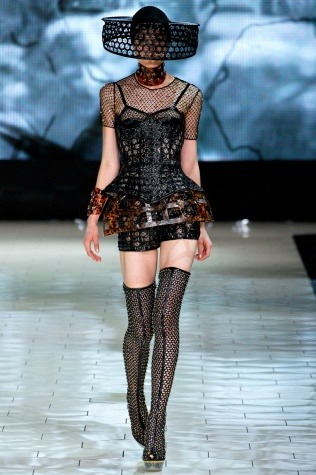 "Sarah Burton's goal w/ Alexander McQueen Spring 2013 collection: ""sensuality and the female form, and doing something light but not naked"""