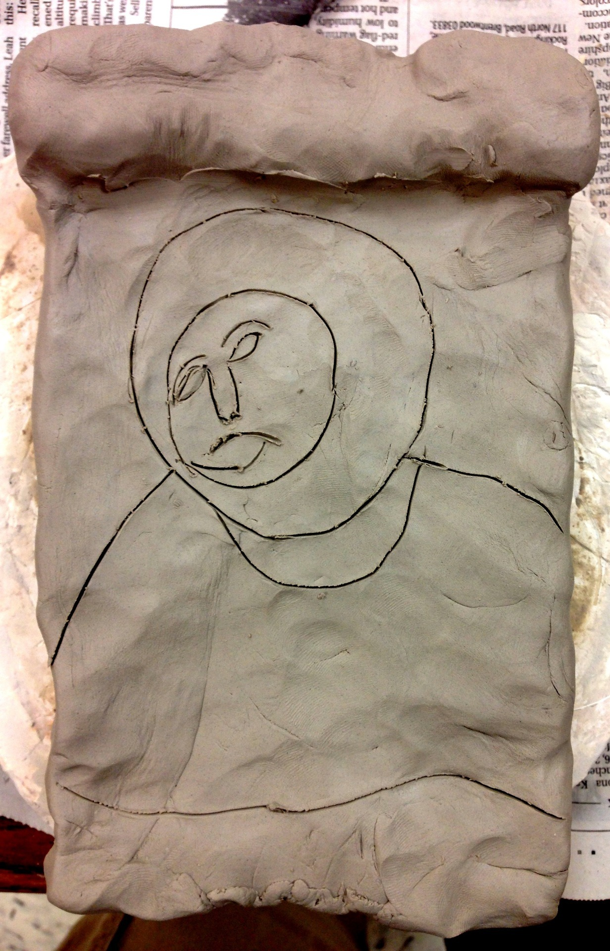 The first stage of my next pottery project. Clay Monkey Jesus - IN 3D!
