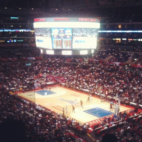 Clippers vs Cavaliers….thanks #Univision for the suite view! ;) #LAClippers #StaplesCenter  (at STAPLES Center)