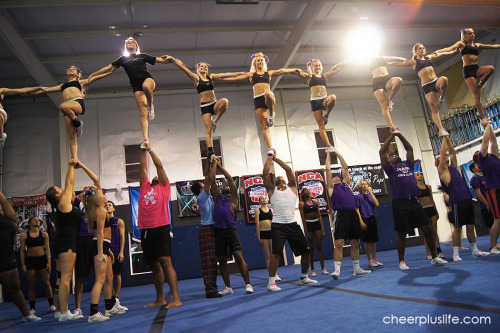 cheerpluslife:  From my trip to North Carolina. This is Cheer Extreme Coed Elite, right before they won their bid to Worlds.