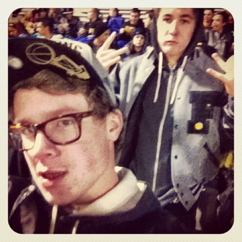 MY NIqqA AND I AT DA FBALL GAME YO @SAGEBAKER