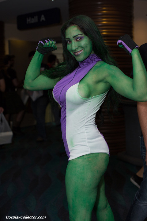 "dtjaaaam:  She-Hulk - Long Beach Comic Con 2012 ""If you don't buy my book this time I'm gonna come to your house and rip up all your X-Men."""