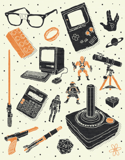 it8bit:  Nerd Life Created by Josh Lane Prints available at Society6.