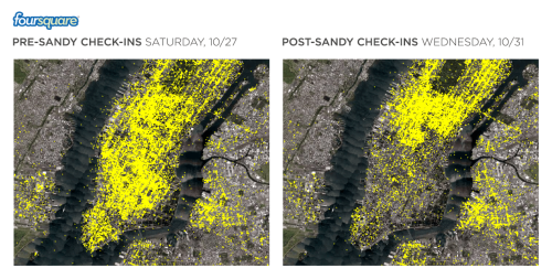 smarterplanet:  New Foursquare graphic tells the story of Sandy's devastation of Lower Manhattan