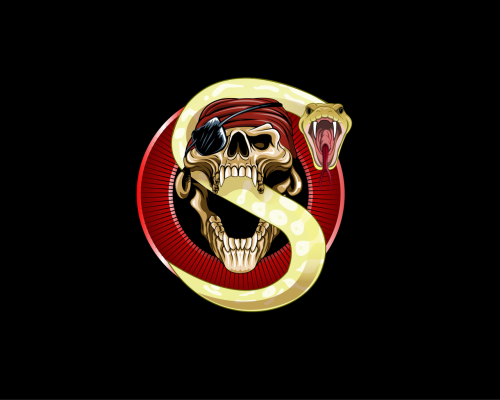 one-eyed Skull artwork for sale AI File