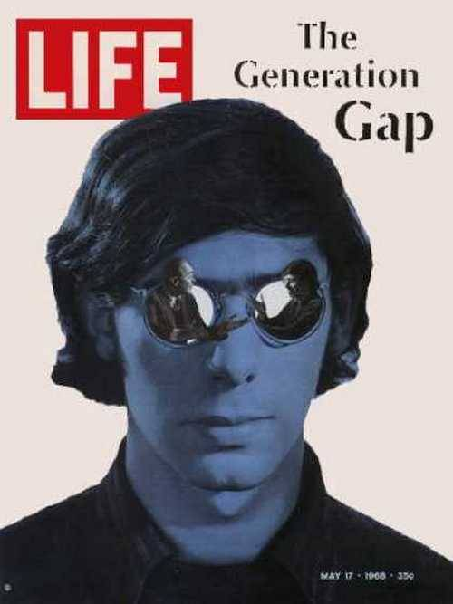 theswinginsixties:  The Generation Gap… Life magazine, May 1968.  wow, i actually have this magazine in my room.